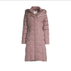 NEW-Cole Haan Signature Hooded Puffer Maxi Coat LG